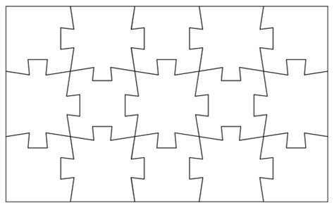 Name Puzzle Template by Blank Jigsaw Puzzle Templates Make Your Own Jigsaw