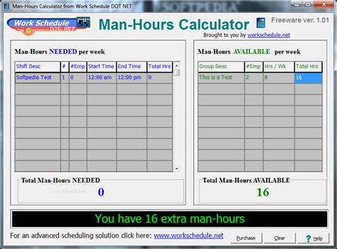 man hours calculator