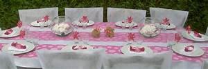 Décoration Table Bapteme Fille : id es de d coration de table pour un bapt me de petite fille ~ Farleysfitness.com Idées de Décoration