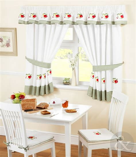 Kitchen Curtains by Kitchen Curtains Green Ready Made Embroidered Net
