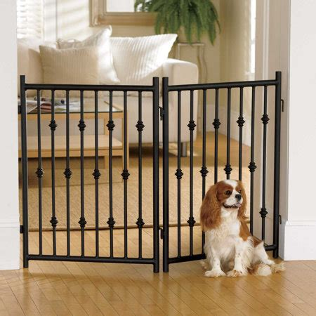 door gates for dogs 2 panel wrought iron pet gate