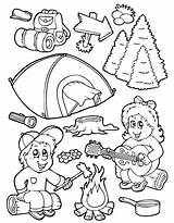Coloring Camping Pages Printable Equipment Adults Bko Popular Coloringhome sketch template
