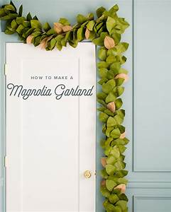 Paper, Magnolia, Leaf, Garland