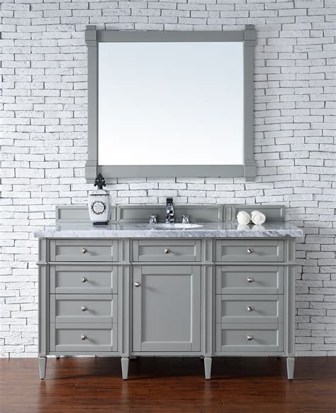 brittany  urban gray single vanity  carrara white