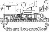 Steam Train Coloring Locomotive Pages Colouring Engine Netart Template Clrg sketch template
