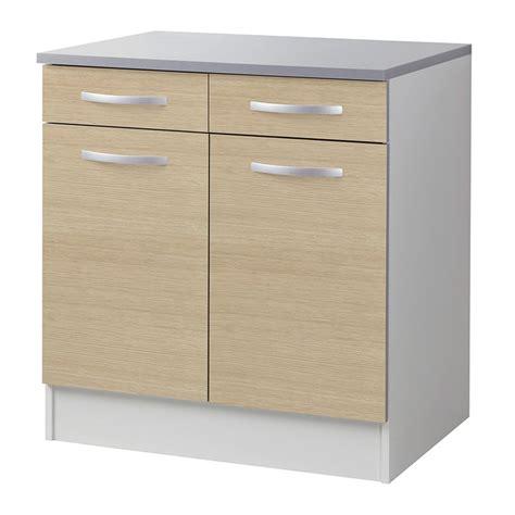 meuble bas cuisine 80 cm meuble bas 80cm quot smarty quot naturel