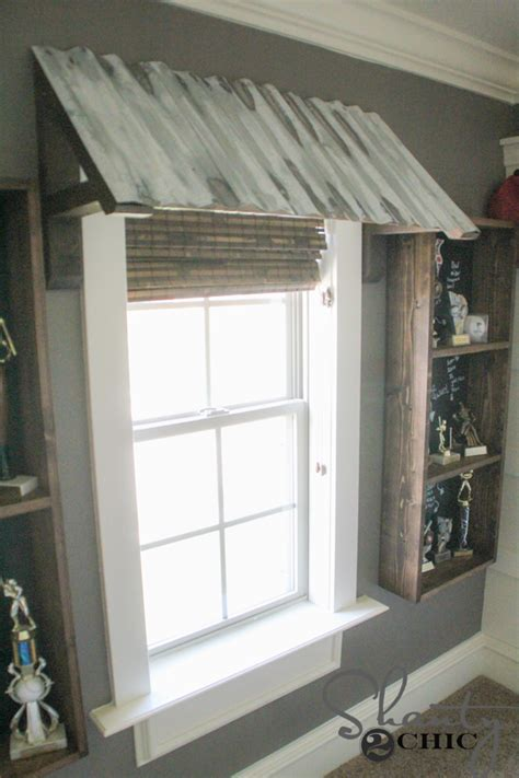 diy corrugated metal awning shanty  chic