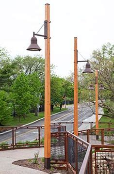 wooden light post patio driveway lighting outdoor