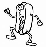 Hotdog Colouring Panino Sevenlere Boyamalar Besinler Hoca sketch template