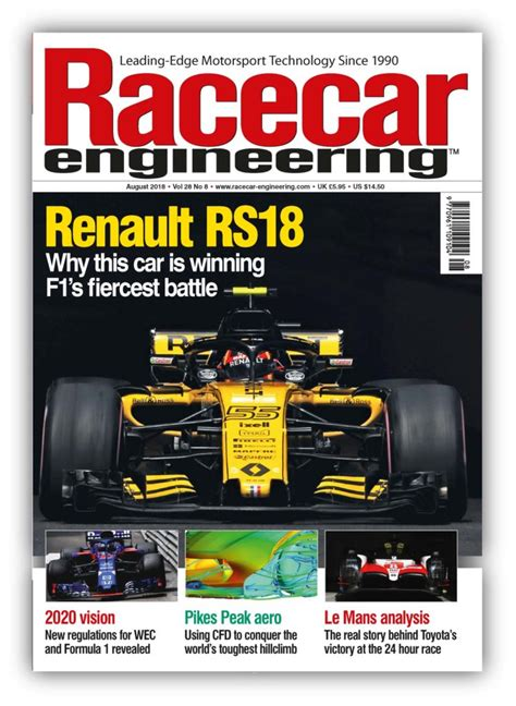 August 2018 Issue Out Now!  Racecar Engineering