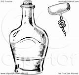 Bottle Whisky Clipart Vector Corkscrew Sketched Illustration Royalty Graphics Tradition Sm Coloring Seamartini Pages Template 2021 sketch template