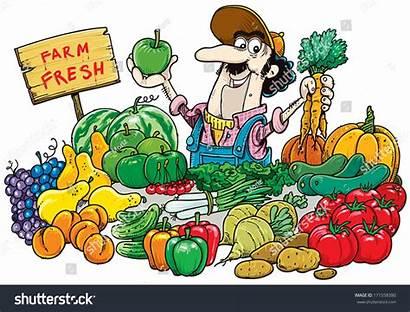 Clipart Vegetable Market Fruit Selling Vendor Vegetables
