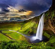 Seljalandsfoss Iceland Waterfall Sunset