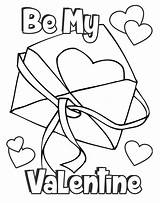 Valentine Coloring Card Pages Happy Envelope sketch template