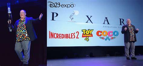 animation d23 pixar disney studios expo walt films panel upcoming john lasseter breakdown creators presentation updated