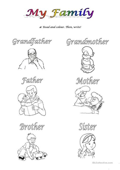 worksheets about family for preschoolers them