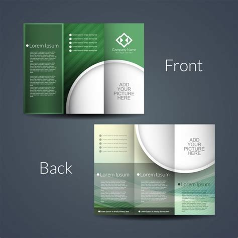 4 sided brochure template double sided brochure vector free download