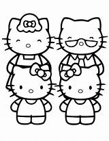 Coloring Kitty Hello Pages Printable Preschool Friends 2021 Template Prints Calendar Characters Popular sketch template