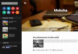 Moksha Responsive Blogger Template Free Download