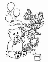 Coloring Toys Pages Printable Drawing sketch template