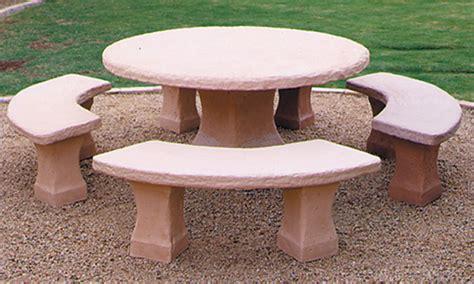 concrete landscape tables outdoor concrete tables phoenix