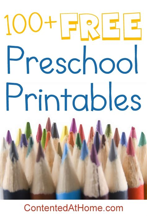 preschool printables contented  home