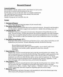 Research Proposal Format Sample Shaquille O Neal Dissertation