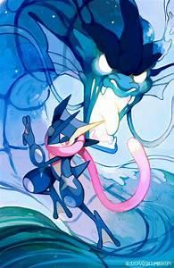 Pokemon Greninja And Gardevoir Kiss Images | Pokemon Images