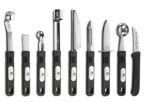 messermeister culinary instruments garnishing set  piece black cutlery