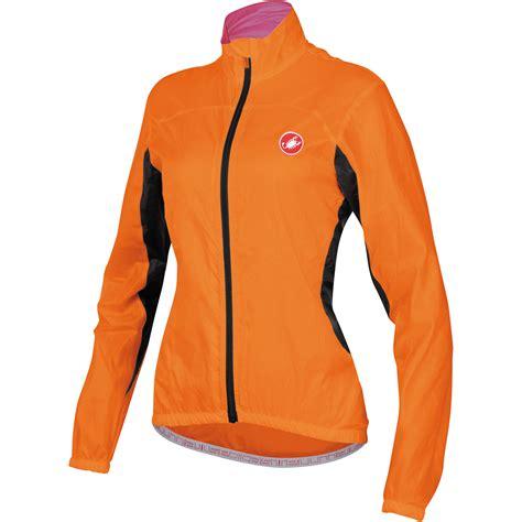 orange cycling jacket wiggle castelli women 39 s velo jacket cycling windproof
