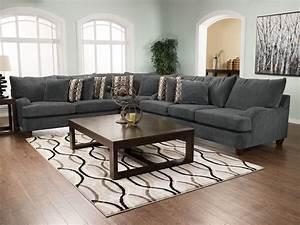 putty chenille 3 piece sectional grey the brick With living room furniture the brick