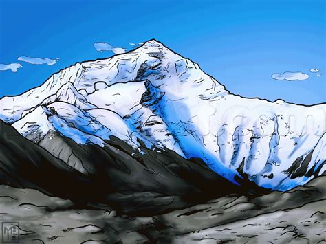 Mount Everest Drawing