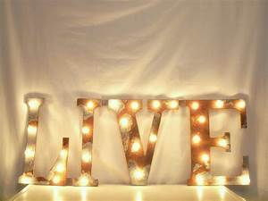 hand crafted letter wall hanging metal letter light With metal wall letters with lights