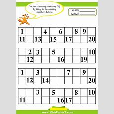 Kindergarten Missing Number Worksheet 120  Missing Number Worksheets 120  Shapes Pinterest