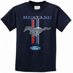 Ford Mustang Kids Shirt Mustang Stripe Tee T-Shirt - Ford Mustang Stripe Shirts