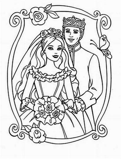 Coloring Pages Barbie Printable Queen King Colouring