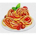 Pasta Spaghetti Cartoon Clipart Tomato Transparent Restaurant