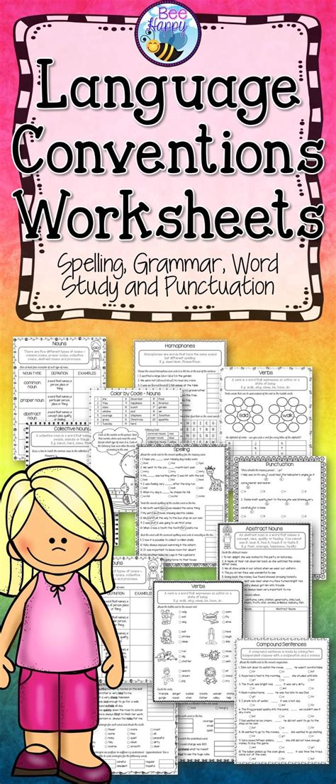 language conventions worksheets language australian curriculum and chang e 3