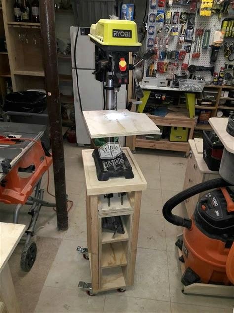 nice work jose  built  rolling drill press cart