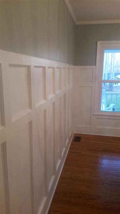 Flat Panel Wainscoting by Dining Room Wainscoting Remodel 187 Artisan