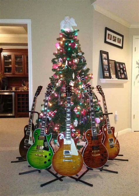 rock and roll christmas tree holiday and seasonal decor