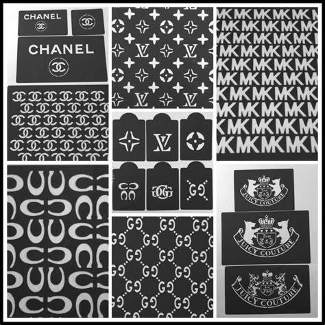 lot   cake stencils designers mk louis vuitton chanel