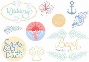 free beach wedding vectors download free vector art With beach wedding invitations vector