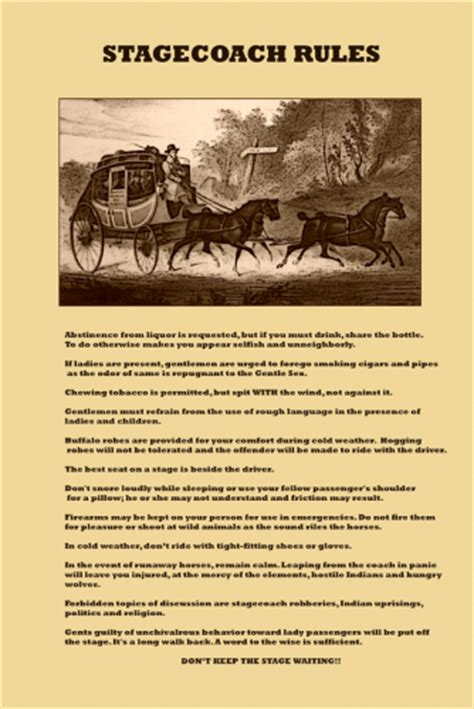 stagecoach rules  poster