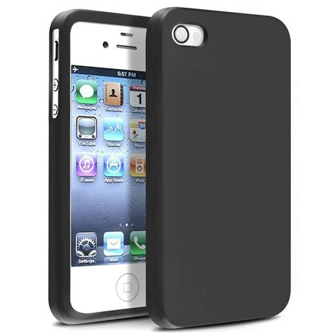 Rubber Iphone 4 Iphone 4s for apple iphone 4 4s g os black silicone rubber soft skin