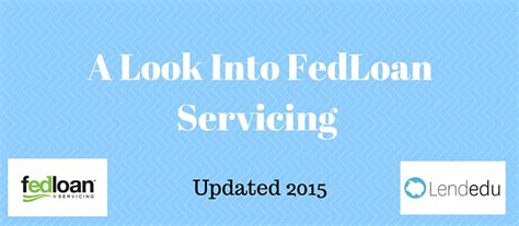 fedloan servicing phone number fedloan servicing refinancing can help