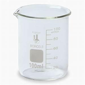 Karter Scientific, 100 ml Low Form Graduated Glass Beaker ...
