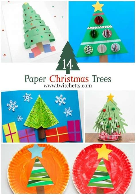 construction paper christmas crafts construction paper trees twitchetts
