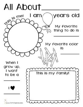 all about me preschool and kindergarten activity by 607 | original 2564776 2