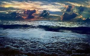 Dunkle Wolken Sturm Ozean Calico Hintergrundbilder ...